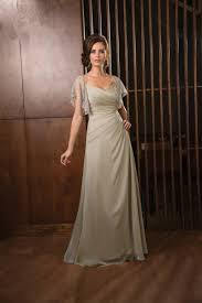 graceful v neck floor length champagne chiffon mother of the bride