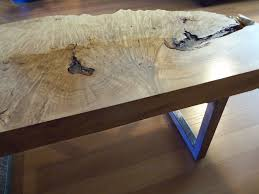 Kitchen Island Legs Meta Handmade Live Edge Maple Burl Coffee Table With Square Metal Legs