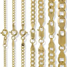 gold curb necklace images 9ct gold curb chain diamond cut flat trace rope figaro d c JPG