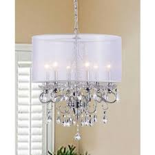 Crystal Drum Shade Chandelier Drum Shade Chandeliers With Crystals