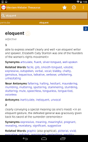 meriam webster dictionary apk dictionary m w premium android apps on play
