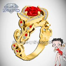 betty boop inspired red garnet u0026 white swarovski rose style