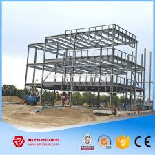 steel structure framed commercial office building structural steel