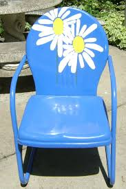 Outdoor Metal Furniture by Vintage Collectible 1950 U0027s Metal Lawn Chair Restored And Brightly