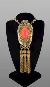 pauline rader necklace pauline rader big coral tassel pendant coral craziness