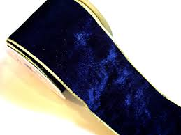 navy blue wired ribbon blue velvet wired ribbon offray velplush wired ribbon 4 inches