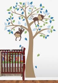 Tree Wall Decal For Nursery Nursery Wood Tree Wall Decal Monkey Vinyl Wall