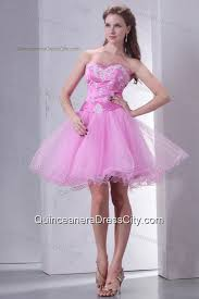 quince dama dresses sweetheart pink organza mini length dama dress for
