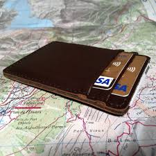 grain leather card holder by superior titanium products inc