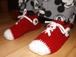 pattern crochet converse slippers crochet converse sneakers for adult youtube