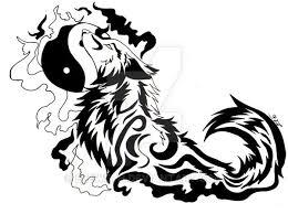yinyang wolf by eleweth on deviantart
