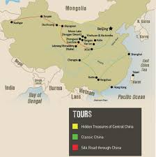Xi An China Map by Authentic China Tours U0026 Holidays Travel The Unknown