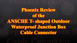 T Shaped by Ansche T Shaped Outdoor Waterproof Junction Box Cable Connector