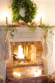 French Country Fireplace - feathered nest friday french country cottage frenchchristmas
