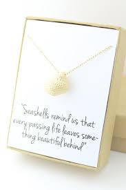 condolence gift ideas gold seashell necklace sea shell conch necklace sympathy