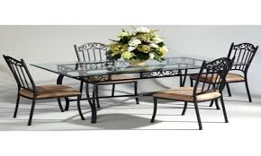 wrought iron dining room set rustic round copper table with