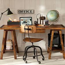 Pottery Barn Writing Desk by Emerson Sawhorse Desk Hutch Pottery Barn Things Pinterest