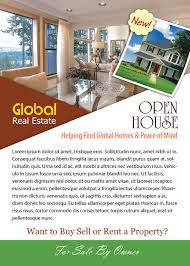 open house flyer template photoshop version free flyer templates