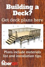 25 best free deck plans images on pinterest free deck plans