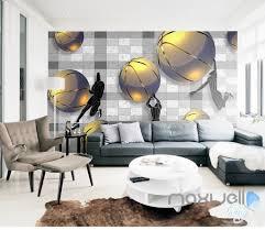 3d basketball game 5d wall paper mural modern art print decals