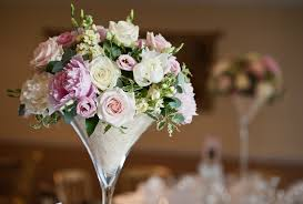 Large Martini Glass Centerpieces by Martini Vases For Weddings