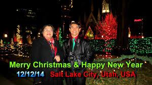 temple square christmas lights 2014 salt lake city utah usa