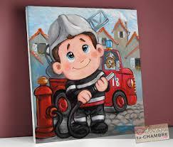 chambre enfant pompier tableau enfant déco fée vente tableau p tites frimousses