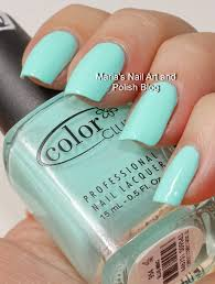 marias nail art and polish blog color club swatch spam blue ming