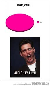Jim Carrey Meme Alrighty Then - every time i asked my mom for something the meta picture