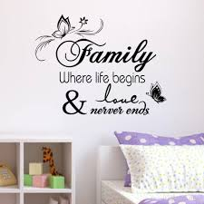 family vinyl wall quote decal stickers for home decor wall decals