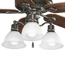 3 Light Ceiling Fan Light Kit by Progress Lighting P2623 20 3 Light Fan Light Kit Antique Bronze