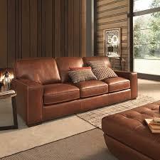 Wood And Leather Sofa Natuzzi Editions At F2 Furnishings