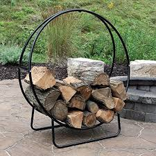 firewood storage rack wood fire place log holder outdoor fireplace