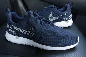 Dallas Cowboys Home Decor Dallas Cowboys Version 2 Nike Roshe One Run Navy Blue Custom