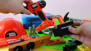 kids power tool set review black and decker tool youtube