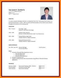 Resume For Architecture Student Short Resume Sample Eliolera Com