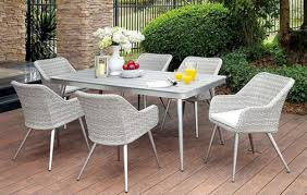 Patio Table 6 Chairs Furniture Of America Shivani Patio Dining Table U0026 6 Chairs