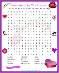 free printable valentine s day worksheets fancy word searches