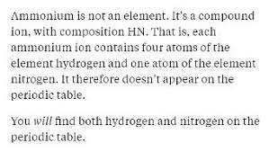 Ions Periodic Table 4 Answers How Is Ammonium Classified On The Periodic Table Quora