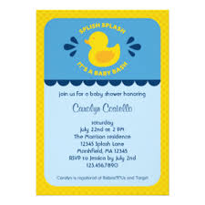 duck baby shower invitations ducky baby shower invitations announcements zazzle
