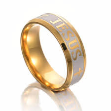 steel rings large images High quality large size 6mm ring titanium steel gold color jesus jpg