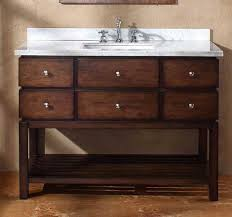 Bathroom The Weathered Wood Vanities For A Cottage Style Are Solid - Bathroom wood vanities solid wood