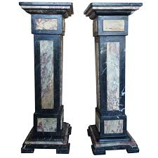 pair of french neoclassical style pedestals melissa levinson