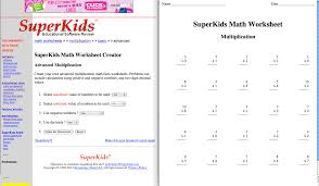 Superkids Math Worksheets Multiplication Superkids A Web 2 0 Tool Project A Wonderful Web 2 0 Tool And