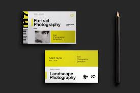 photography exhibition business card template for photoshop