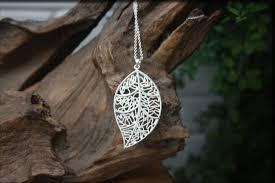leaf chain necklace images Silver necklaces jpg
