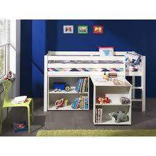 combin bureau biblioth que combiné pour enfant avec bureau et bibliothèque coloris blanc