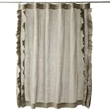 Overstock Shower Curtains Ruffled Natural Cotton Linen Shower Curtain Free Shipping Today