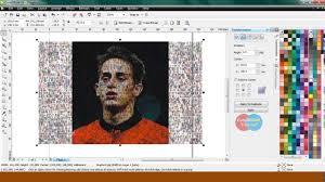tutorial edit foto mozaik coreldraw tutorials mosaic effects coreldraw x4 youtube