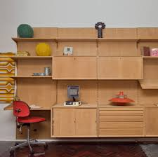 Desk Wall System Poul Cadovius Royal System Wall Shelving With Desk Vampt Vintage